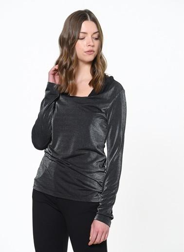 Vero Moda Vero Moda 10085189 Parlak Kadın Bluz Siyah